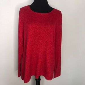 Old Navy Red Heathered Sweater
